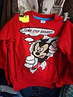 Батник для мальчика на 5-8 лет с начесом Комикс Микки