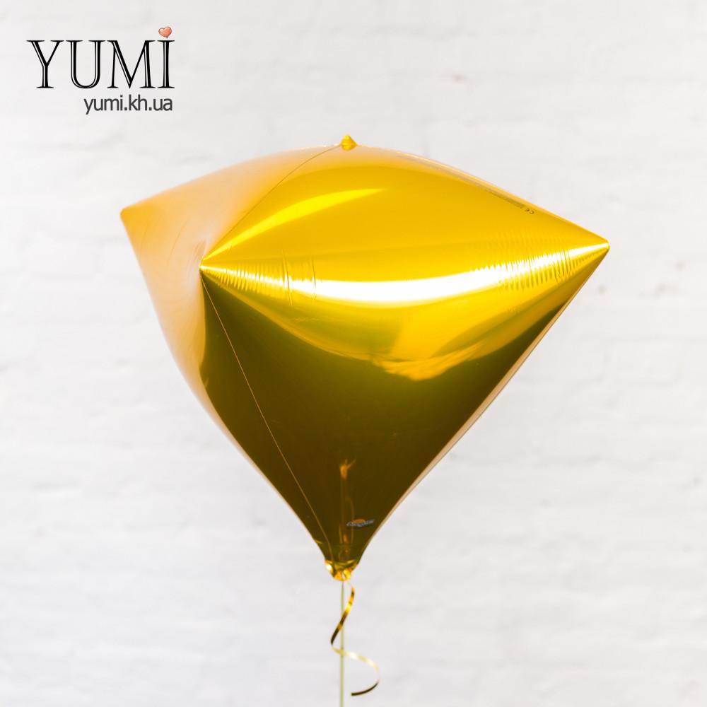 Воздушный шар с гелием в форме алмаза