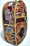 Джинсовый Рюкзак Кот на веревке, фото 4