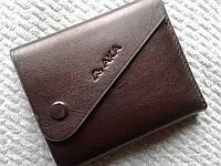 Кожаный бумажник мужской коричневый стильный AKA Deri(Турция)