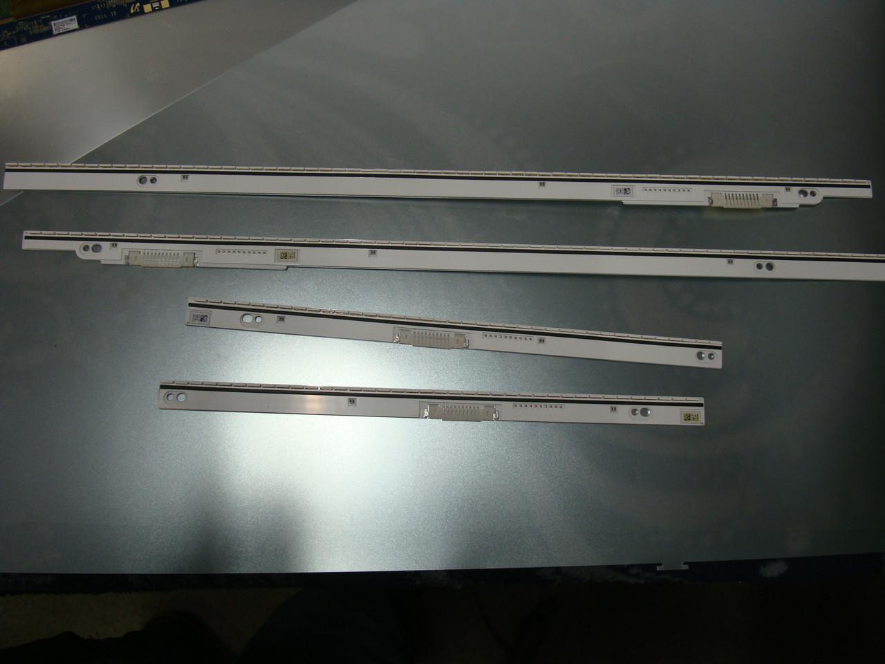 Планки LED подсветки BN96-28866A, BN96-28865A, BN96-28867A, BN96-28868A от телевизора Samsung UE65F8000SL (CY-