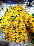 Куртка зимняя для мальчика на 2-6 лет Миньоны