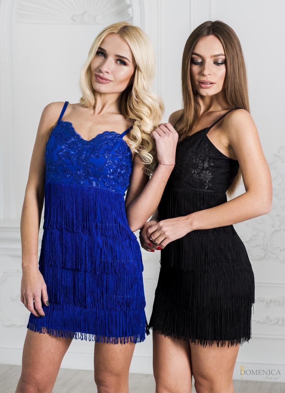 Вечернее платье-мини