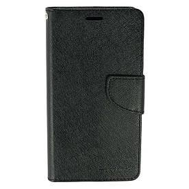 Чехол книжка для Meizu M5 Note боковой с отсеком для визиток, MERCURY GOOSPERY, черный