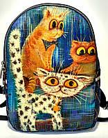 Джинсовый Рюкзак Совещание, фото 1