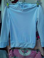 Гольф  для девочки на 5-8 лет ажурный светло-голубой оптом