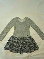 Плаття для дівчинки 3-6 років з довгими рукавами трикотажна в'язка