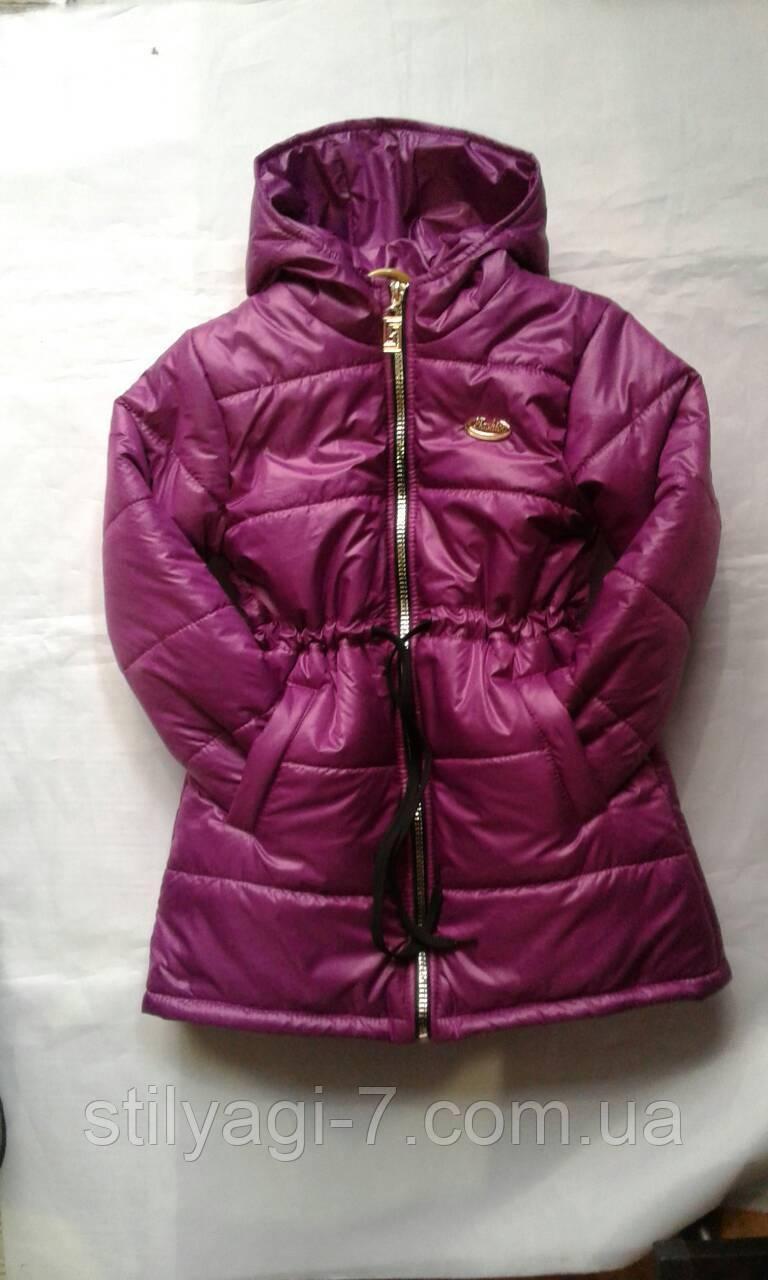 88f2252a0f2e Куртка-пальто демисезон для девочек 6-10 лет сиреневого цвета - Стиляги 7 км