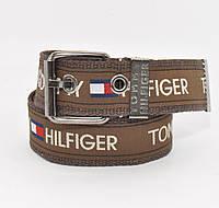 Текстильный ремень для джинсов Tommy Hilfiger 4800-106 коричневый, ширина 43 мм