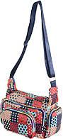 Пестрая женская сумка в горошек Traum 7150-23 сине-красный