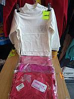 Гольф  для девочки  с начесом на 5-8 лет  розового, белого, красного цвета Бабочка оптом