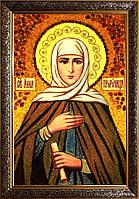 Анна ікона з бурштину