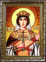 Икона Святая Елена из янтаря