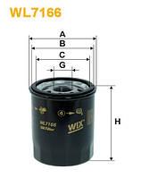 Фильтр масляный NISSAN MICRA WL7166/OP612 (производство WIX-Filtron)