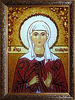 Икона Святая мученица Клавдия из янтаря