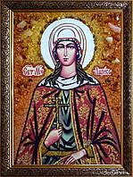 Ікона Лариса з бурштину