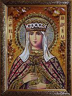 Икона Святая Людмила из янтаря