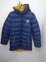 Зимняя удлиненная куртка для мальчика 12 лет