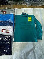 Батник для мальчика трикотажный на байке 9-12 лет Бруклин 3D серого,синего,зеленого,белого цвета оптом