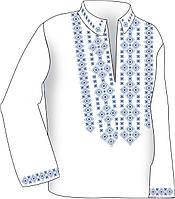 Заготовка под вышивку мужской рубашки ВЧ-4