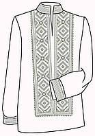 Заготовка под вышивку мужской рубашки ВЧ-9