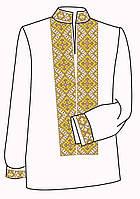 Заготовка под вышивку мужской рубашки ВЧ-6