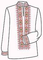 Заготовка под вышивку мужской рубашки ВЧ-13