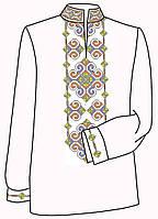 Заготовка под вышивку мужской рубашки ВЧ-16