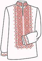 Заготовка под вышивку мужской рубашки ВЧ-18