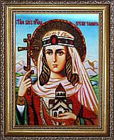 Икона святая Тамара из янтаря