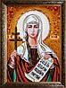 Ікона Свята Тетяна з бурштину