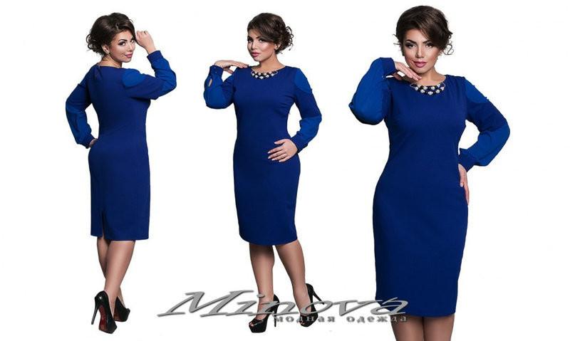 """Красивое женское платье ткань """"Хлопок+стрейч"""" 48 размер норма"""