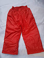 Штаны для девочки из плащевки 2-6 лет на овчине красного цвета оптом