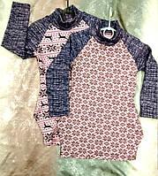 Платье для девочки с карманами и новогодним принтом 30-36 р, детские платья оптом от производителя