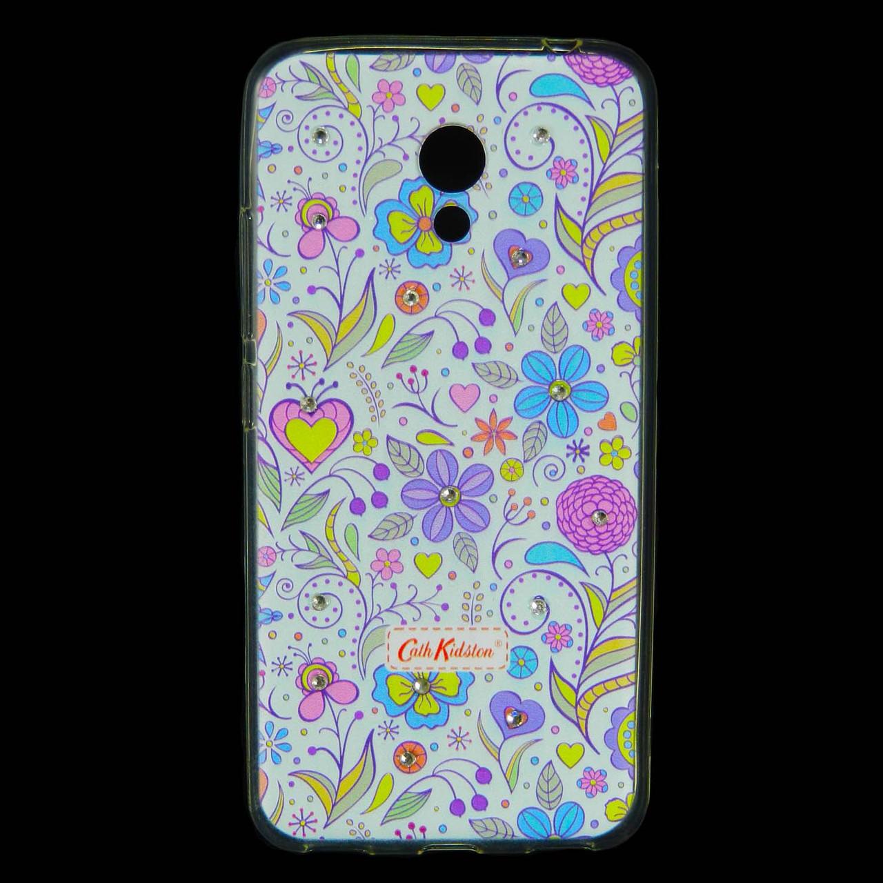 Чохол накладка для Meizu M5c силіконовий Diamond Cath Kidston, Квіткова фантазія