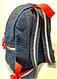 Детский джинсовый рюкзак человек паук, фото 2