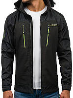 Мужская демисезонная  спортивная  куртка с капюшоном №8