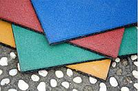 Резиновая плитка для детских площадок 500х500х40 мм