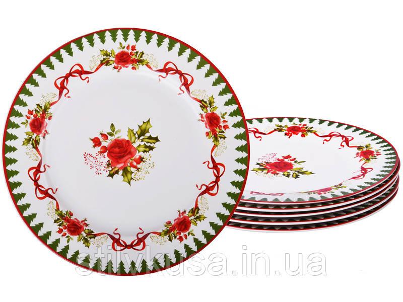 Набор тарелок из 6-ти штукНОВОГОДНЯЯ КОЛЛЕКЦИЯ