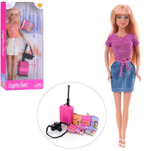 Кукла DEFA 8377 (48шт) 29см, чемодан, фотоаппарат, микс видов, в кор-ке, 15-32,5-5см