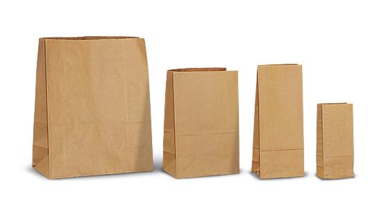 пакеты бумажные с прямоугольным дном без ручек фото
