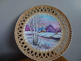 Декоративное панно пейзажи на бересте
