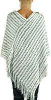 Красивая женская шаль-накидка, хлопок и акрил, Trаum 2485-11, цвет белый.