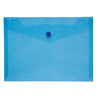 /Папка-конверт А5 на кнопці JOBMAX, прозора, синій