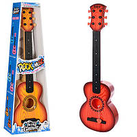Гитара 77-03F (24шт) 66см, струны 6шт, медиатор, 2 вида, в кор-ке, 67-24-8см