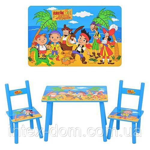 Дитячий столик M 1700 зі стільчиками Джейк і пірати