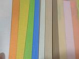Рулонные шторы Лен голубой 074, фото 3