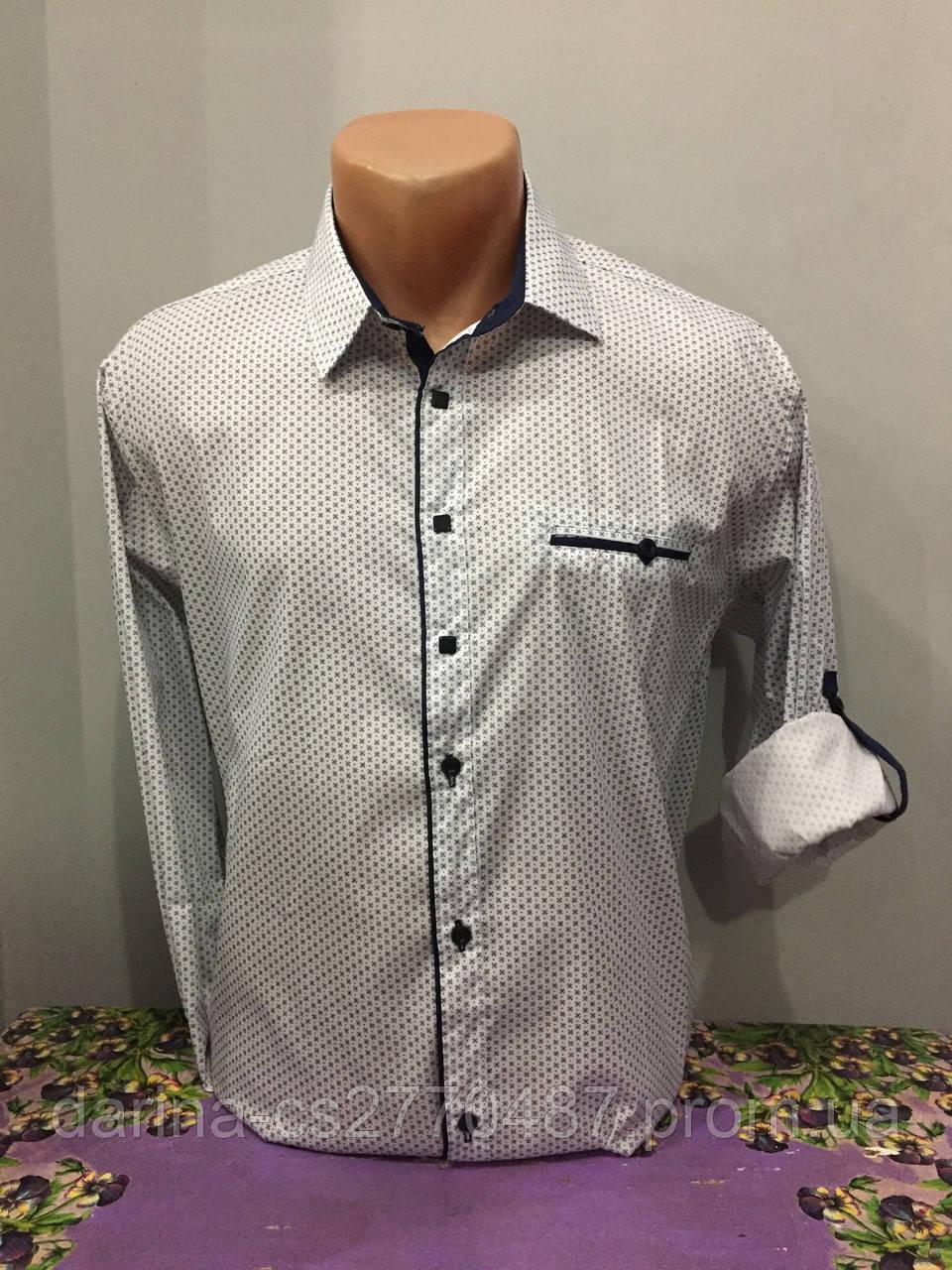 Рубашка в мелкий рисунок для мужчины S