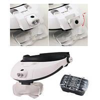 Ювелирные очки бинокулярные 5 линз 1X - 6X с LED подсветкой Magnifier 81001-G
