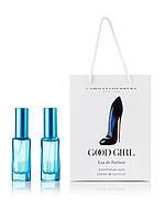 Парфюм 2 по 20 мл в подарочной упаковке CAROLINA HERRERA GOOD GIRL eau de PARFUM ( синий туфель ) ж